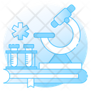 Medical Research Microscope Laboratory Tool Icon