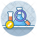 Medical Research Research Flask Beakers Icon