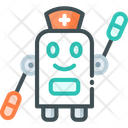Treatment Design Medical Robot Robot Icon