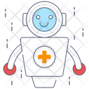 Medical Robot Bionic Man Humanoid Icon