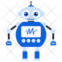 Medical Robot Bionic Man Humanoid Icon