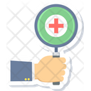 Medical Search Health Icon