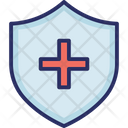 Medical Shield Medicine Shield Red Cross Shield Icon