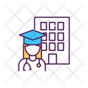 Medical Student Doctor Education Icon