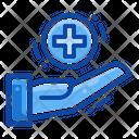 Filled Line Emergency Hospital Icon