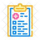 Medical Checklist Color Icon