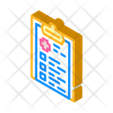 Medical Checklist Isometric Icon