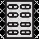 Medical Treatment Medication Medicine Strip Icon