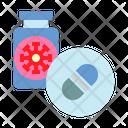 Medical Treatment Corona Medicine Medicine Bottle Icon