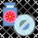Medical Treatment Coronavirus Pill Medicine Bottle Icon