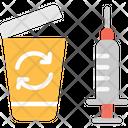 Medical Waste Recycle Bin Bin Icon