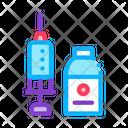 Medicine Syringe Beaker Icon