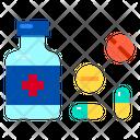 Campsule Drug Medical Icon