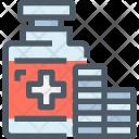 Medicine Capsule Bottle Icon