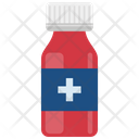 Medicine bottle with white cap Icon