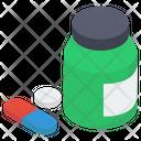 Medicine Pills Jar Medication Icon