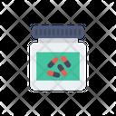 Capsule Medicine Jar Icon