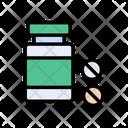 Medicine Jar Pills Icon