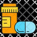 Medicine Bottle Capsule Icon
