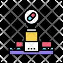 Medicine Manufacturing Plant Icon