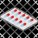 Medicine Strip Medication Capsule Icon