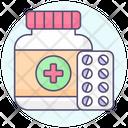 Pharmacy Closeup Round Icon