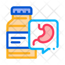 Medicine Vial Stomach Icon