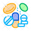 Medicines Supplements Elements Icon