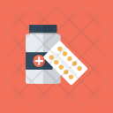 Medicine Pills Bottle Icon