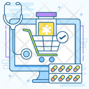 Online Medicines Online Pharmacy Medicines Shopping Icon