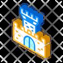 Medieval Castle Isometric Icon