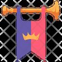 Medieval Trumpet Royal Icon