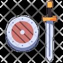 Medieval Shield Sword Icon