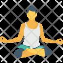 Meditate Sitting Lotus Icon
