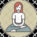 Meditating woman Icon