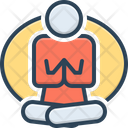 Meditation Yoga Yoga Poses Concentration Relaxation Exercise Wellness Focus Fitness Workout Icon