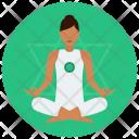 Chakra Heart Meditation Icon