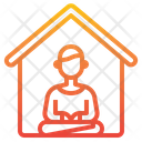 Meditation Working At Home Home Icon