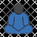 Concentration Meditation Yoga Icon