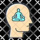 Meditation Mental Health Mental Wellbeing Icon