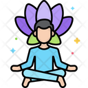 Meditation Relaxation Woman Icon