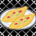 Mediterranean Food Platter Pide Food Baked Food Icon