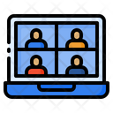 Meeting Online Video Icon