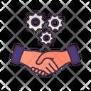Hand Shake Business Managment Icon