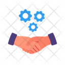 Hand Shake Business Managment Icon
