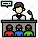 Meeting Conference Boss Icon