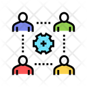 Company Employees Working Icon