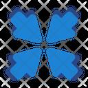Meeting Point Pointer Arrow Icon