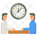 Meeting Time Greeting Time Discussion Time Icon