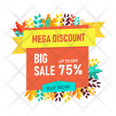 Mega Discount Icon